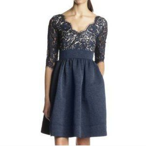 Eliza J 3/4 Sleeve Fit and Flarer Dress 10